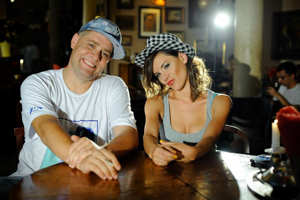 """TEDE & Natalia Lesz – plan klipu """"Glam rap"""" – 13.08.2010 (Foto: P. Tarasewicz)"""