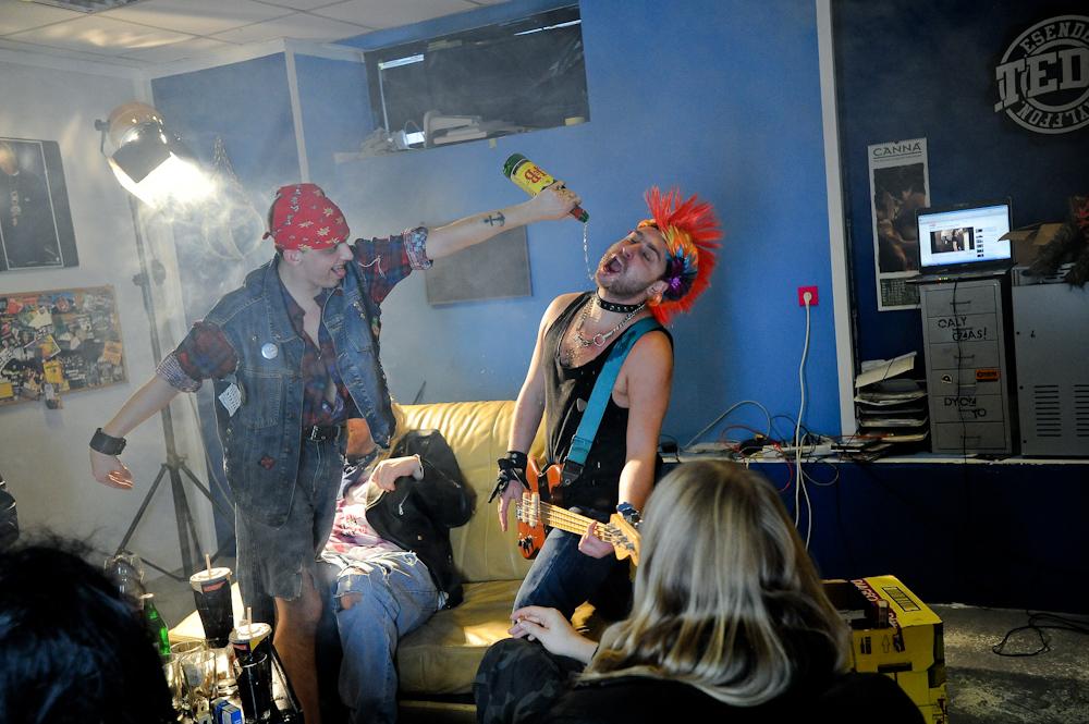 """TEDE na planie klipu """"To jest mój rock"""" – 01.12.2010 (Foto: P. Tarasewicz & A. Rawicz)"""