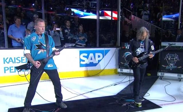 Muzycy Metallici wykonali hymn przed finałem Pucharu Stanleya