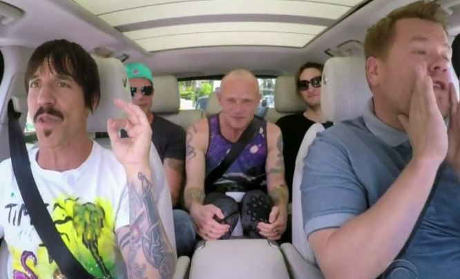 "James Corden: ""Carpool Karaoke"" z Red Hot Chili Peppers"