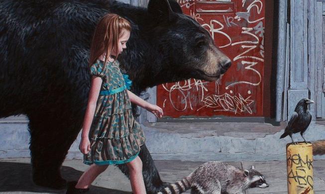 """2-metrowy niedźwiedź i pozostałe zwierzęta z okładki """"The Getaway"""" wydrukowane w 3D (wideo)"""