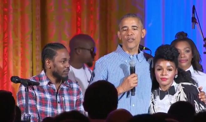 Kendrick Lamar i Janelle Monae na koncercie w Białym Domu (wideo)