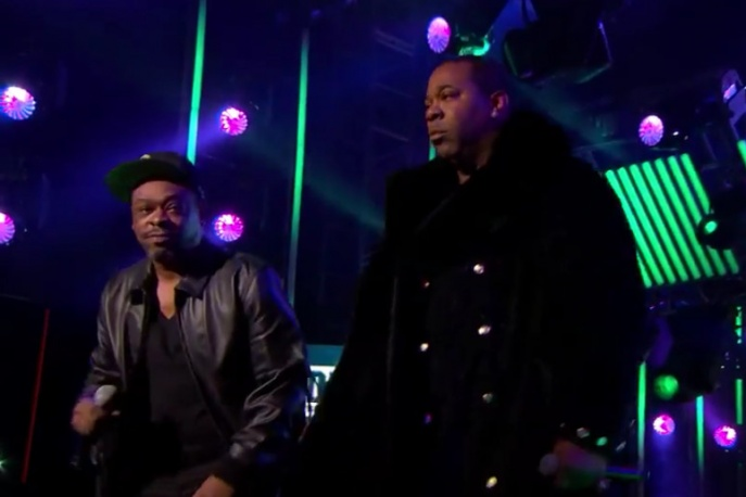 A Tribe Called Quest i Busta Rhymes na żywo u Kimmela