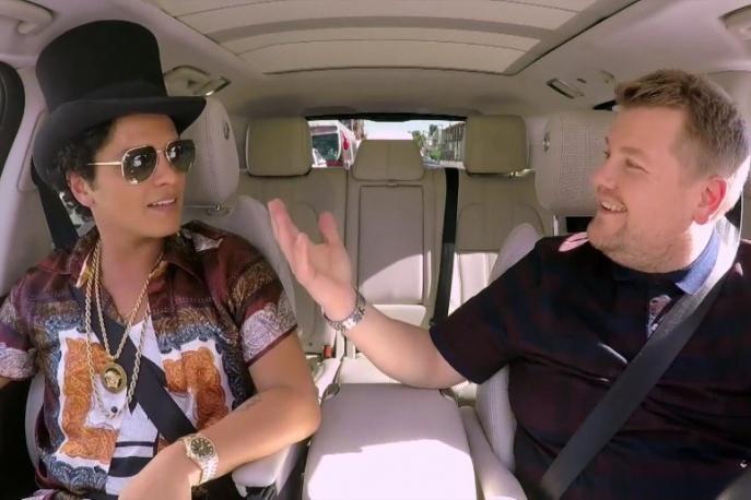 Bruno Mars w nowym odcinku Carpool Karaoke Jamesa Cordena