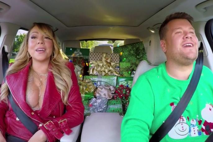 """Mariah Carey, Adele, Red Hoci i inni w świątecznym """"Carpool Karaoke"""""""