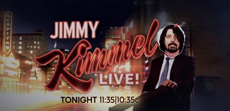 Dave Grohl zastąpił Jimmy'ego Kimmela (wideo)