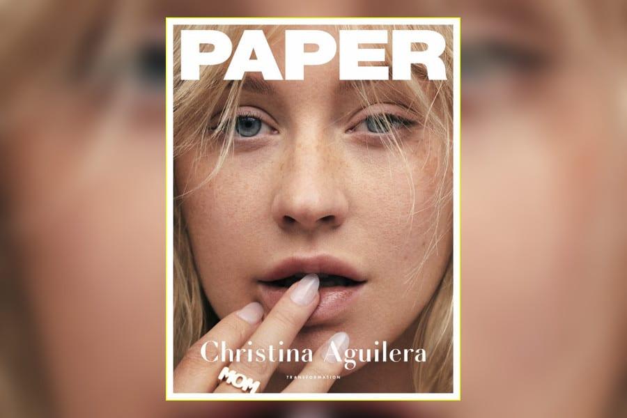 """Christina Aguilera bez makijażu na okładce """"Paper"""""""
