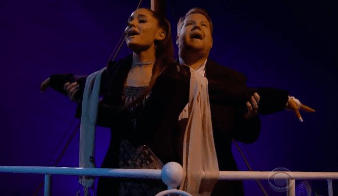 Ariana Grande daje show u Jamesa Cordena!
