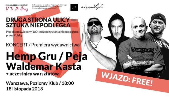 Peja, Hemp Gru i Waldemar Kasta na darmowym koncercie w Warszawie