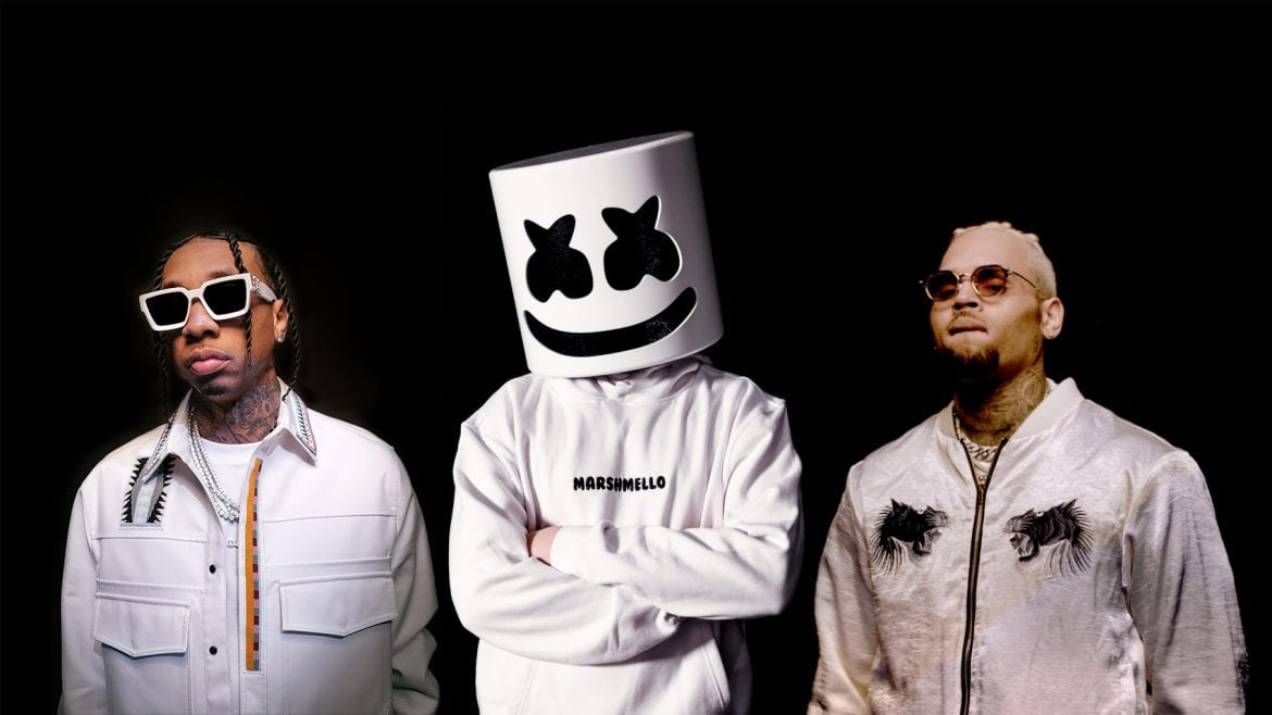 Marshmello, Tyga i Chris Brown  we wspólnym singlu