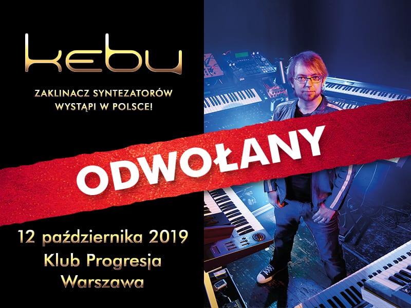 Warszawski koncert Kebu odwołany