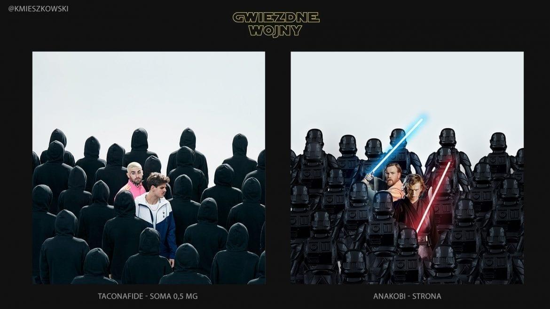 Okładki polskich płyt rapowych przeniesione do świata Star Wars