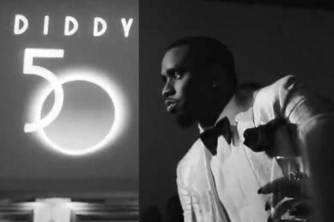 Epicki film z 50-tych urodzin Diddy'ego