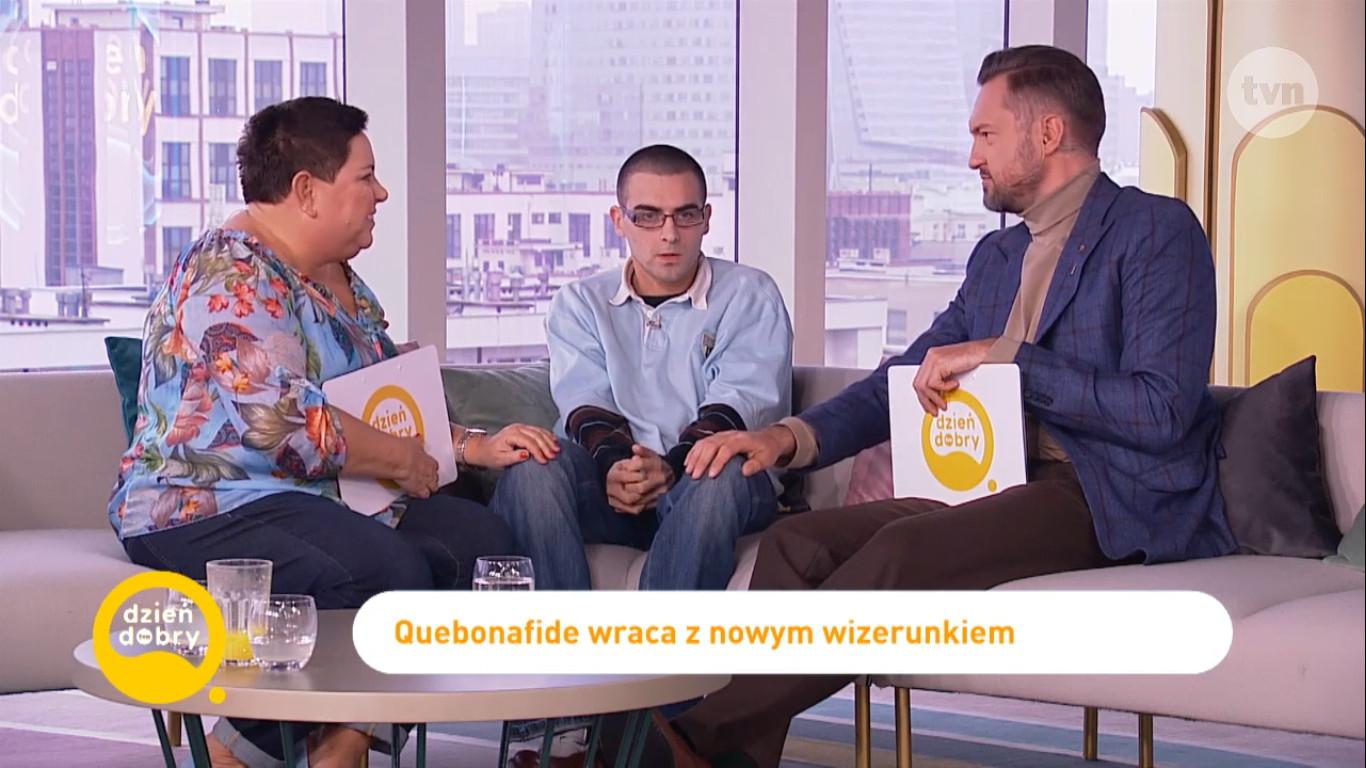 Quebonafide w Dzień Dobry TVN - zobacz występ rapera - CGM.pl