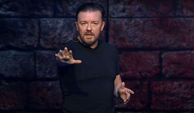 """Ricky Gervais krytycznie o celebrytach śpiewających """"Imagine"""""""