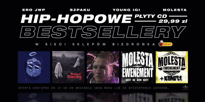 Płyty Szpaka, Molesty, Young Igiego, Eminema, 2Paca, w rewelacyjnych cenach w Biedronce