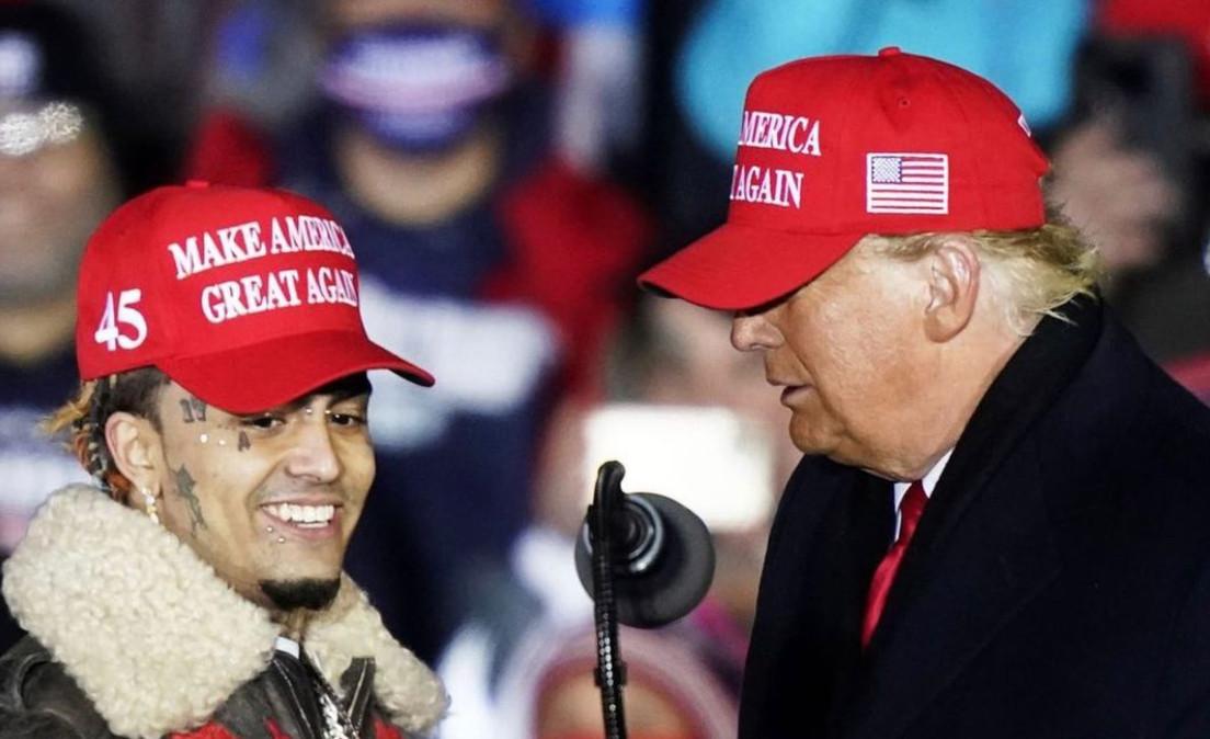 Lil Pump pojawił się na wiecu Trumpa. Prezydent zaprosił go na scenę, ale pomylił jego ksywkę