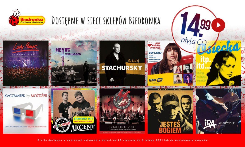 Polskie CD i nowe winyle w ofercie Biedronki