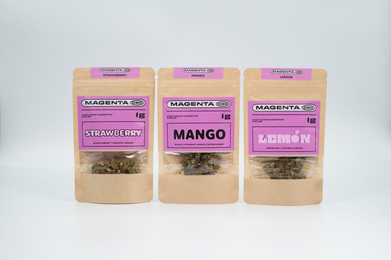 Właśnie ruszyła sprzedaż trzech nowych aromatów suszu marki Pezeta – Magenta CBD