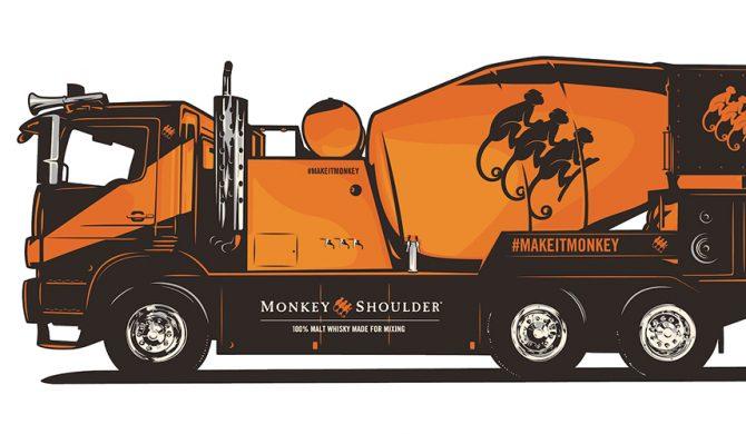 Mixer Truck Monkey Shoulder na Fest Festivalu