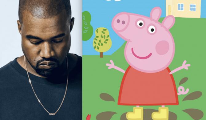 Świnka Peppa drwi z Kanye Westa na Twitterze