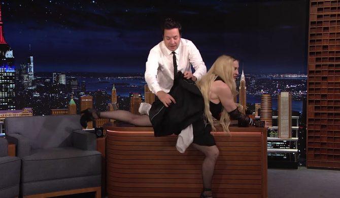 Madonna pokazała pośladki w programie Jimmy'ego Fallona