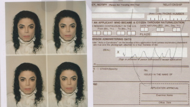 Wniosek paszportowy Michaela Jacksona trafił na aukcję