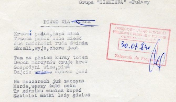 Odnaleziono archiwalne dokumenty z jarocińskich festiwali z lat 80