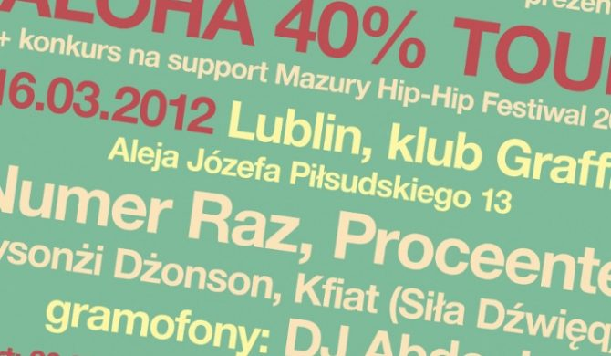 Konkurs na support MHHF 2012 – Lublin