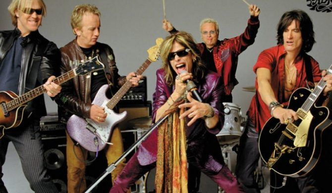 Gitarzysta Aerosmith z solówką
