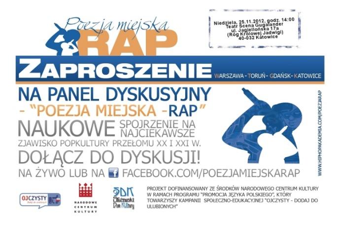 Panel Dyskusyjny Poezja Miejska Rap