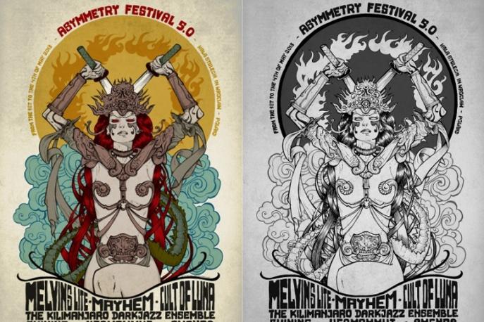 Znakomita grafika projektu Malleusa dla Asymmetry Festival 5.0