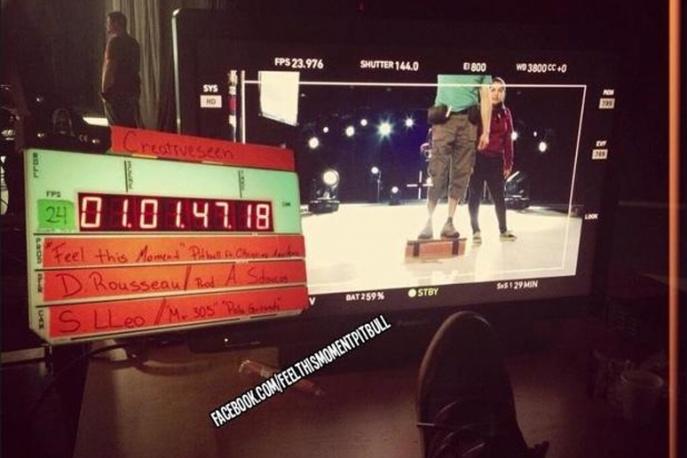 Christina Aguilera i Pitbull kręcą teledysk