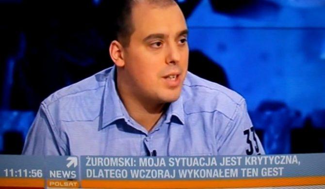 Żurom tłumaczy powody podpalenia bluzy (video)