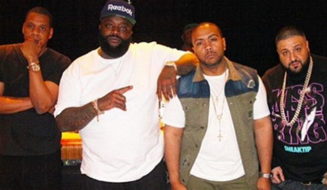 Jay-Z, Rick Ross i Timbaland w studiu