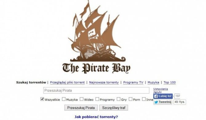 """100 najczęściej """"piraconych"""" wydawnictw w The Pirate Bay"""