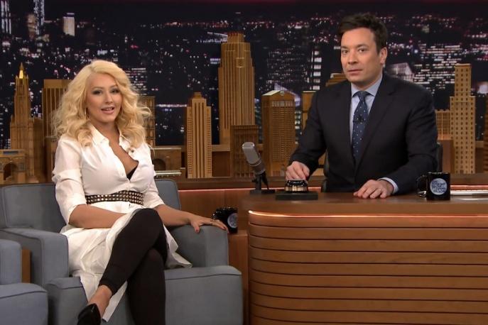 Christina Aguilera naśladuje Britney Spears (wideo)