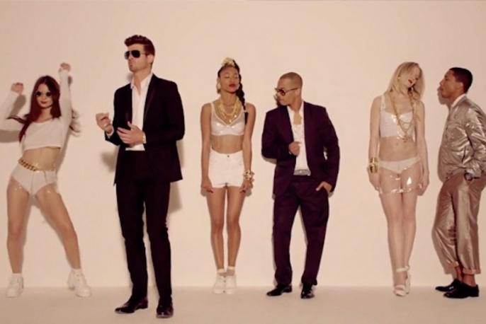 """""""Blurred Lines"""" jednak plagiatem. Pharrell i Thicke zapłacą 7,4 mln dolarów"""