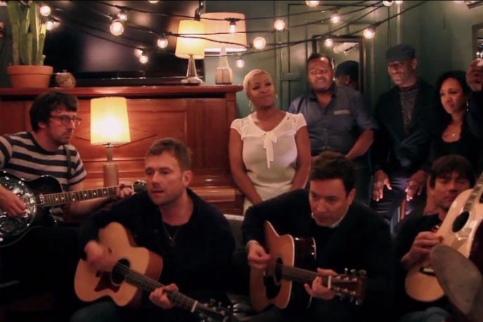 """Blur u Fallona. Jimmy wsparł zespół w """"Tender"""" (wideo)"""