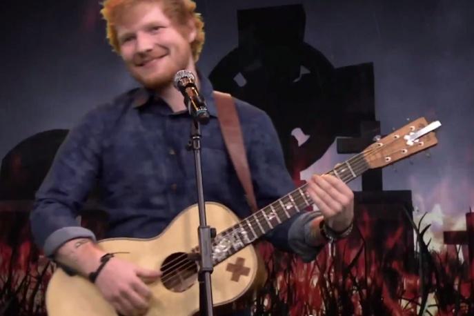 Ed Sheeran wystąpił u Fallona. Wykonał utwory Iron Maiden, Limp Bizkit i Ty Dolla Signa