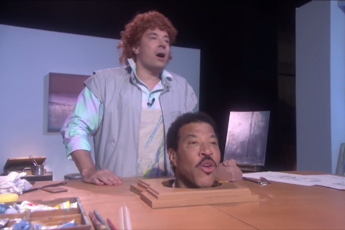 "Jimmy Fallon i Lionel Richie parodiują klip do ""Hello"""