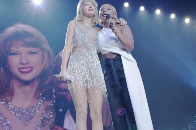 Taylor Swift na scenie z Mary J. Blige (wideo)