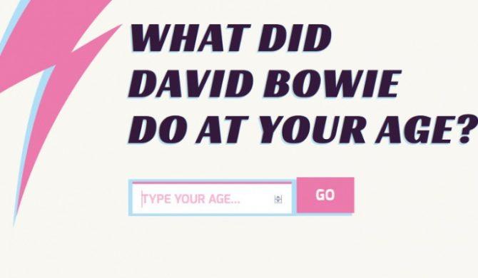 A czy Ty wiesz, co robił David Bowie będąc w Twoim wieku?